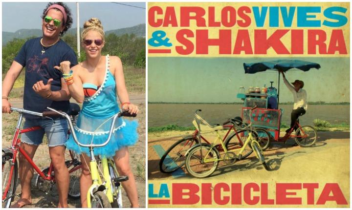 Llegaron Carlos Vives y Shakira en 'La Bicicleta'