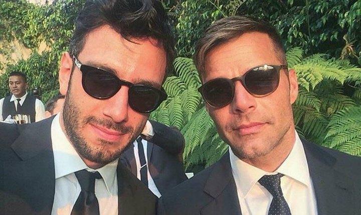 Ricky Martin disfruta de sus vacaciones de verano con su pareja