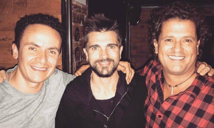 Carlos Vives y Fonseca asistieron al lanzamiento de Juanes