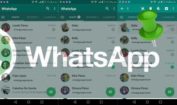Cómo anclar chats en WhatsApp