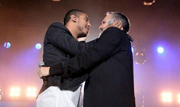 Medrano y Bosé sorprendieron con un beso a los bogotanos