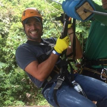 Chayanne se divierte en las alturas